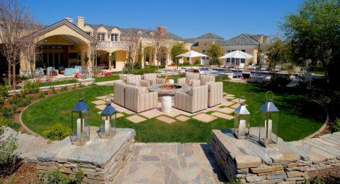 花园地砖美式风格装修效果图