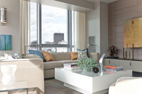 87平米公寓现代风格装修图片