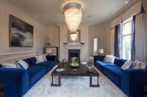 115平米二居室现代风格装修设计图片