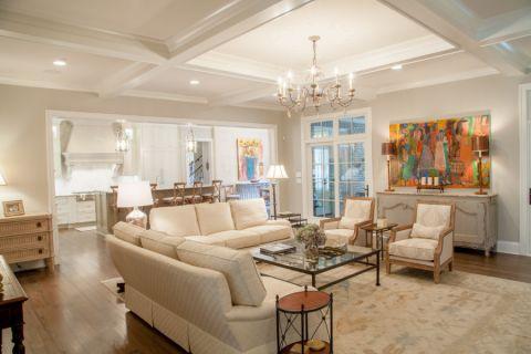 庭院130平米美式风格装饰效果图