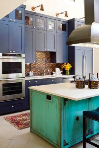厨房地砖混搭风格装修设计图片