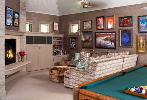 客厅照片墙混搭风格装饰效果图