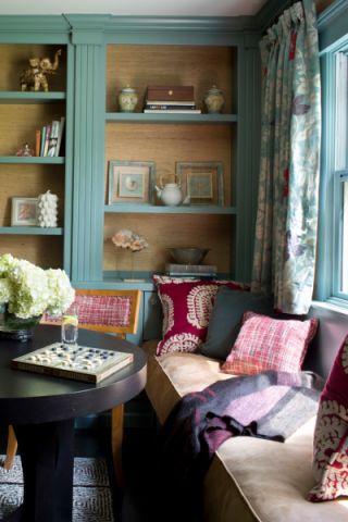 书房窗帘混搭风格装潢效果图