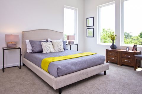 61平米二居室现代风格设计效果图