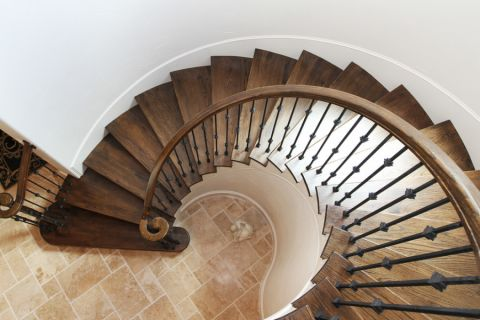 客厅楼梯地中海风格装饰图片
