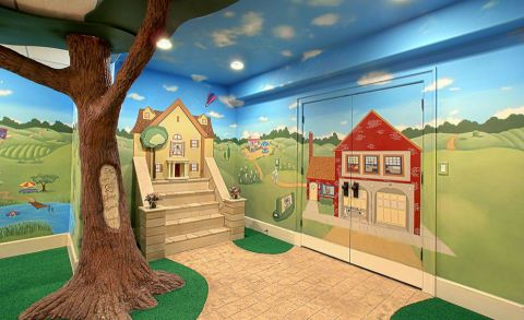 儿童房吊顶美式风格装潢图片