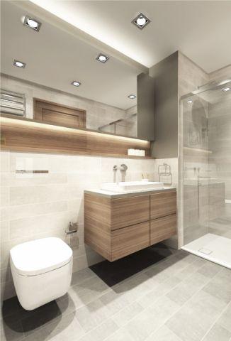 浴室地砖现代风格装潢设计图片