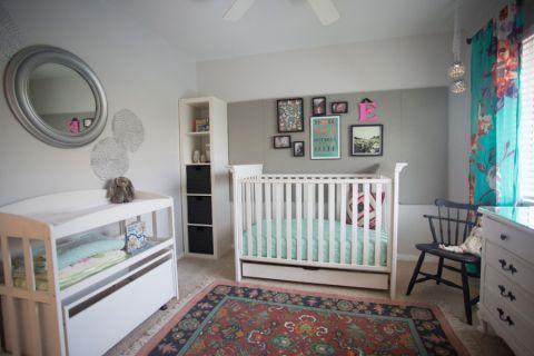儿童房照片墙混搭风格装饰图片