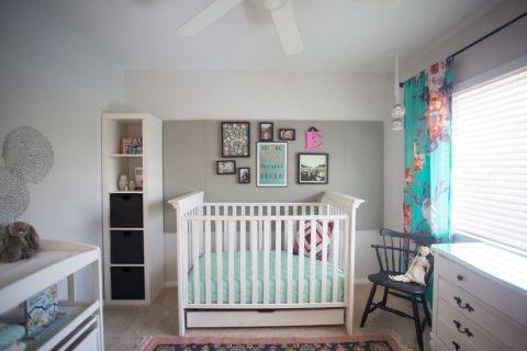 儿童房窗帘混搭风格装潢设计图片