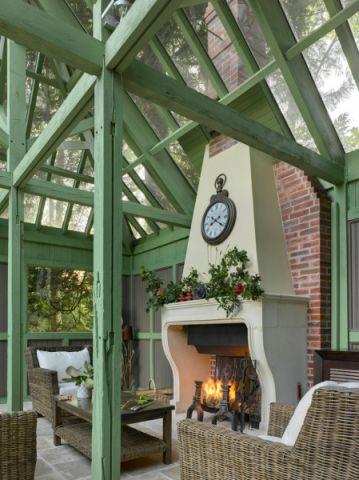 阳光房茶几混搭风格装饰设计图片