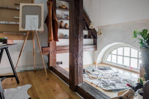 书房地板砖混搭风格装潢设计图片