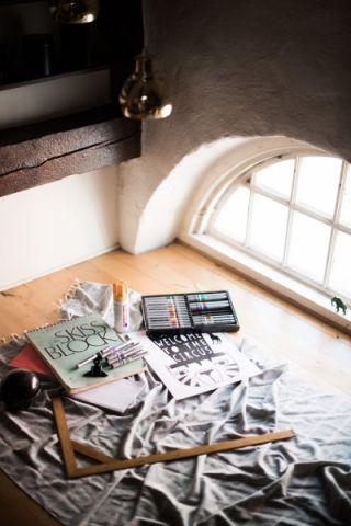阳台地板砖混搭风格装饰效果图