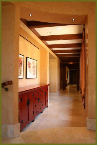 玄关走廊地中海风格装潢设计图片