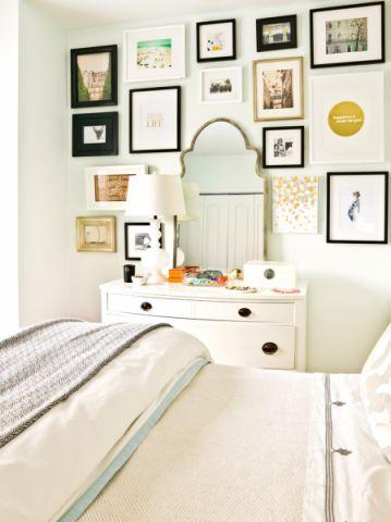 卧室照片墙混搭风格装潢效果图