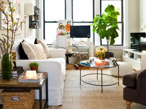 96平米公寓混搭风格装修图片