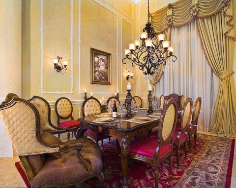 餐厅餐桌美式风格装修图片
