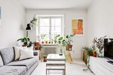 客厅电视柜北欧风格装潢效果图