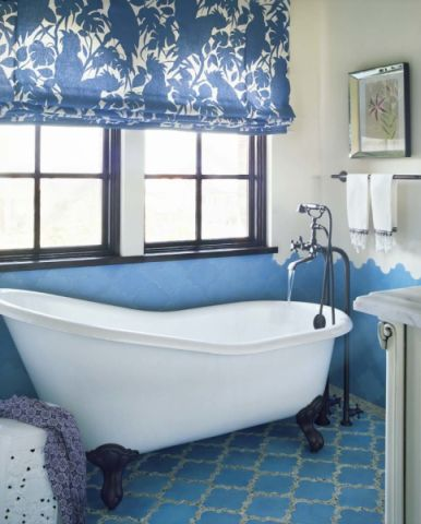 浴室窗帘地中海风格装饰效果图