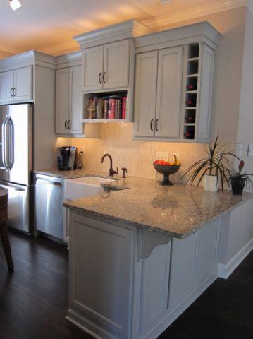 厨房地板砖混搭风格装修设计图片