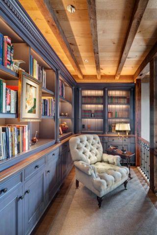 书房吊顶混搭风格装饰图片
