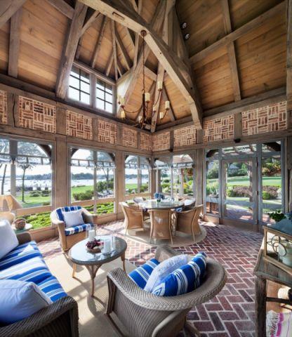 阳光房吊顶混搭风格装修设计图片