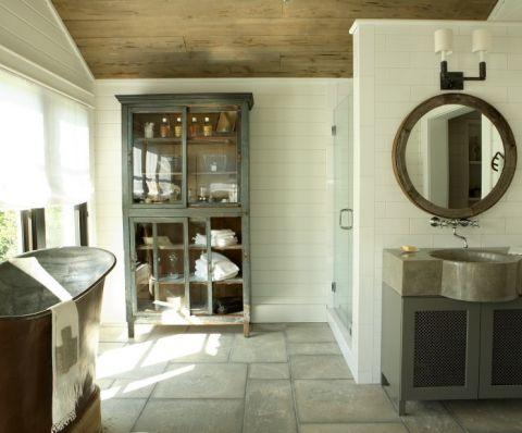 浴室地砖美式风格效果图