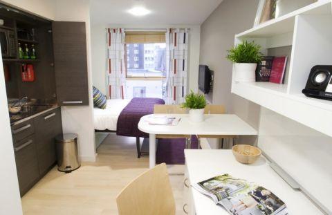 60平米公寓现代装修图片_土拨鼠装修效果图