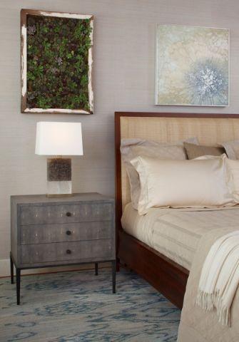 卧室床头柜混搭风格装潢设计图片