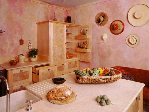 厨房背景墙地中海风格装饰效果图