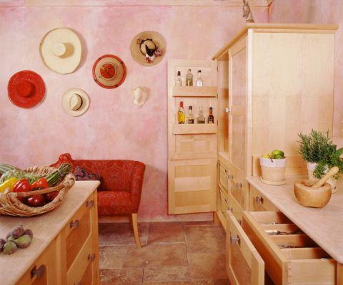 厨房地砖地中海风格装潢效果图