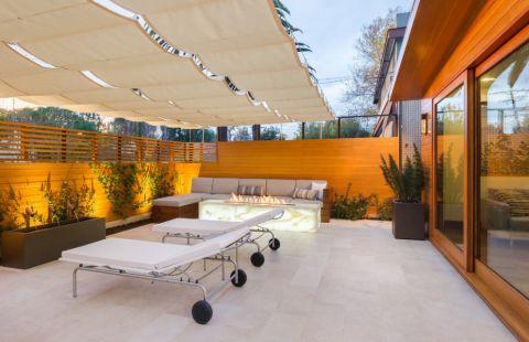 阳台地砖现代风格装修图片