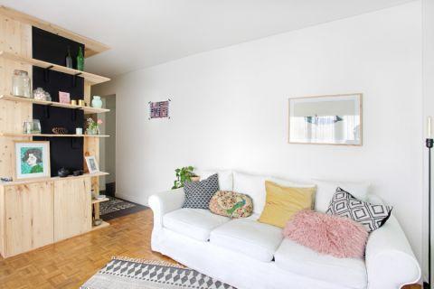 北欧风格公寓61平米装潢图