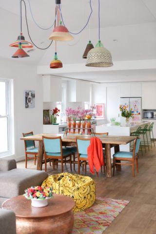 公寓95平米混搭风格装饰实景图