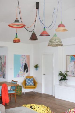 客厅吊顶混搭风格装饰图片