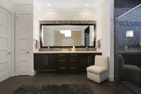 浴室地砖现代风格装修设计图片