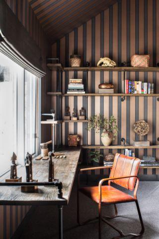 书房书桌混搭风格装潢图片