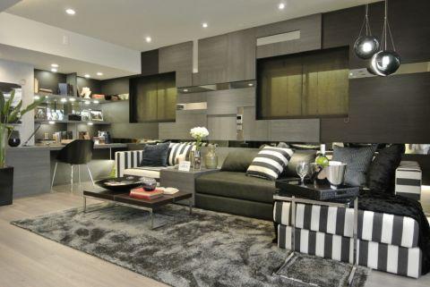 64平米公寓现代风格装修图片