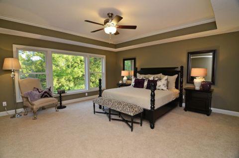 卧室吊顶美式风格装修图片