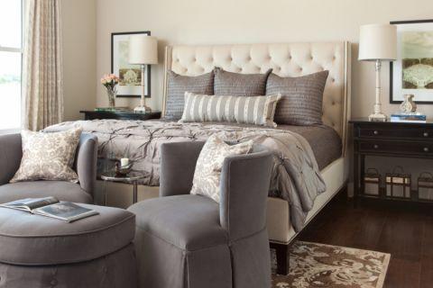 卧室地板砖美式风格装修设计图片