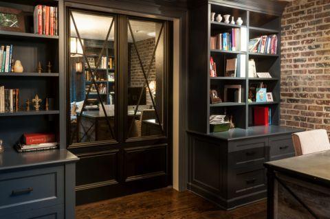书房地板砖混搭风格装饰图片