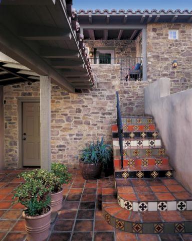 阳台地砖地中海风格装修设计图片