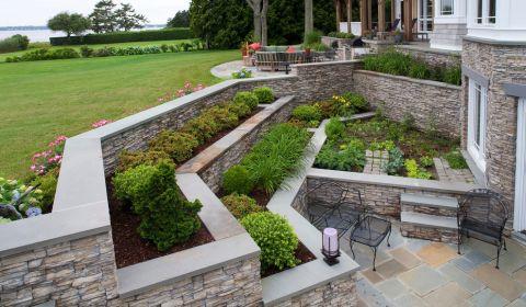 花园地砖地中海风格装饰设计图片