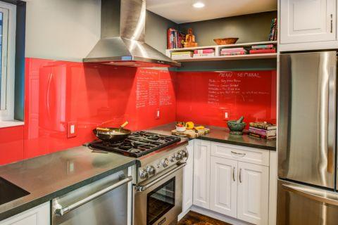 厨房背景墙混搭风格装修图片
