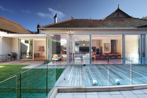 阳台地板砖现代风格装饰设计图片