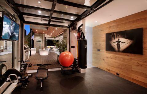健身房背景墙现代风格装饰设计图片