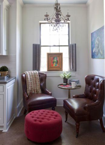 客厅茶几美式风格装潢设计图片