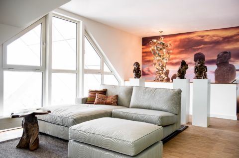客厅落地窗混搭风格效果图