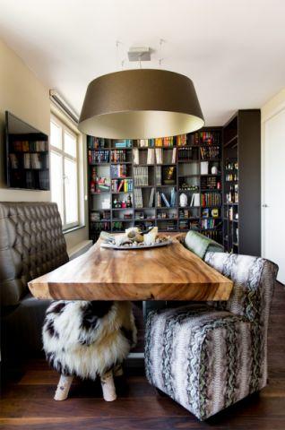 书房书桌混搭风格装饰效果图