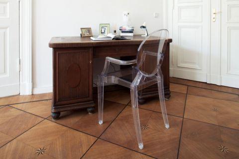 书房书桌混搭风格装饰图片