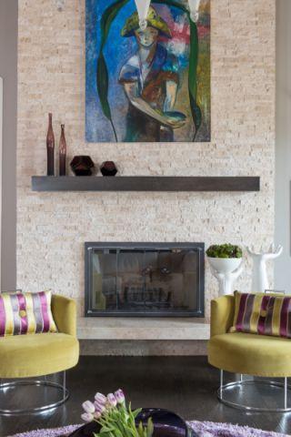 客厅地砖混搭风格装潢图片